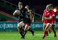 Sarah Hunter in action, England Women v Canada in an Autumn International match at The Stoop, Twickenham, London, England, on 21st November 2017 Final score 49-12