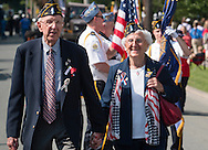 Middletown, New York - People participate in the Middletown-Town of Wallkill Memorial Day parade and ceremonies on  May 25, 2015.