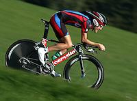 Radsport Weltmeisterschaft 2006 in Salzburg Einzelzeitfahren der Herren David Zabriskie (USA) in Aktion
