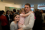 NIGEL COOKE AND CHILDREN, Nigel Cook: New Accursed Art Club. Stuart Shave/Modern art. New Gallery at Eastcastle St. Oxford Circus. London. 24 April 2008.  *** Local Caption *** -DO NOT ARCHIVE-© Copyright Photograph by Dafydd Jones. 248 Clapham Rd. London SW9 0PZ. Tel 0207 820 0771. www.dafjones.com.