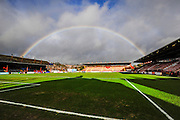 Rainbow over St James' Park before the Sky Bet League 2 match between Exeter City and Dagenham and Redbridge at St James' Park, Exeter, England on 2 January 2016. Photo by Graham Hunt.
