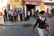 Street Scene. City of Dolores Hildalgo, Mexico.