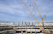Apr 15, 2019; Inglewood, CA, USA; General overall view of the LA Stadium & Entertainment District construction site. The site will be the home of the Los Angeles Chargers and the Los Angeles Rams, Super Bowl LVI in 2022, the College Football National Championship in 2023 and the opening and closing ceremonies of the 2028 Olympic Games.