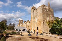 © Licensed to London News Pictures. 13/10/2018. Winchcombe, Gloucestershire, UK. Views of Sudeley Castle. Archaeologists from DigVentures hope to unearth a long-lost Tudor garden at Sudeley Castle this weekend. Best-selling historical novelist Dr Philippa Gregory will also be joining the team. Philippa, who's well-known works include The Other Boleyn Girl and The White Queen, started her research into Sudeley Castle whilst working on a novel about Katherine Parr. For nearly 1,000 years, Sudeley Castle has hosted some of England's most famous monarchs including Henry VIII. It is also where Katherine Parr, Henry's last wife, later lived and was finally laid to rest. A recent geophysical survey at Sudeley revealed the ghostly outline of a long-lost Tudor garden, with traces of what could have been a banqueting house in the same area where pieces of Tudor masonry were found in the 19th century. Now experts say it is time to investigate further. The dig will take place at this Saturday and Sunday, October 13 and 14, and is thought to be the most significant archaeological investigation since the discovery of Roman villas on the estate in Victorian times. A specialist team from social archaeology company, DigVentures, will begin an investigation of the site, which aims to 'ground-truth' the geophysics results. They hope to reveal some of the Tudor secrets that remain hidden underground at the castle. Following the popular landscaping movement inspired by Capability Brown, many Tudor gardens were lost, and this is perhaps just one of only two in England where the original paths remain visible. Photo credit: Simon Chapman/LNP