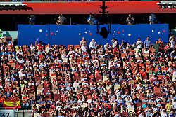 MOSCOW, RUSSIA - Sunday, July 1, 2018: Supporters and empty seats during the FIFA World Cup Russia 2018 Round of 16 match between Spain and Russia at the Luzhniki Stadium. (Pic by David Rawcliffe/Propaganda)