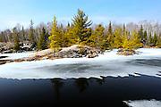 Spring on the Vermilion River in Northern Ontario, Canada.