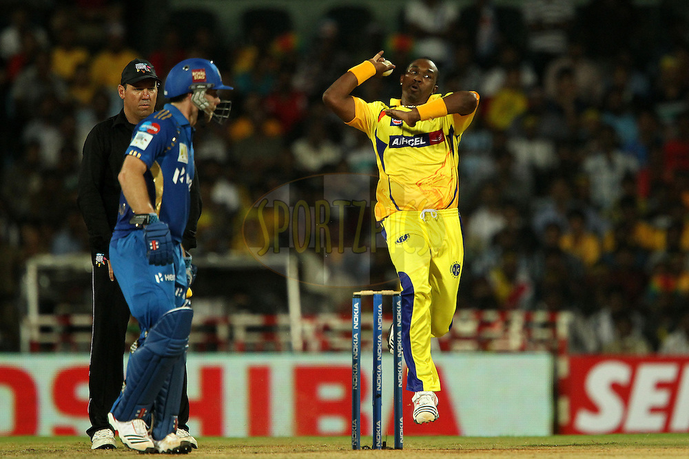 during match 3 of the NOKIA Champions League T20 ( CLT20 )between the Chennai Superkings and the Mumbai Indians held at the M. A. Chidambaram Stadium in Chennai , Tamil Nadu, India on the 24th September 2011..Photo by Ron Gaunt/BCCI/SPORTZPICS