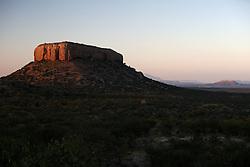 NAMIBIA DAMARALAND APR14 - Table mountain in the Ugab terraces seen during sunrise from the Vingerklip Lodge near Outjo, Namibia.<br /> <br /> <br /> <br /> jre/Photo by Jiri Rezac<br /> <br /> <br /> <br /> © Jiri Rezac 2014