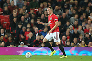 Manchester United's Phil Jones during the EFL Cup match between Manchester United and Rochdale at Old Trafford, Manchester, England on 25 September 2019.