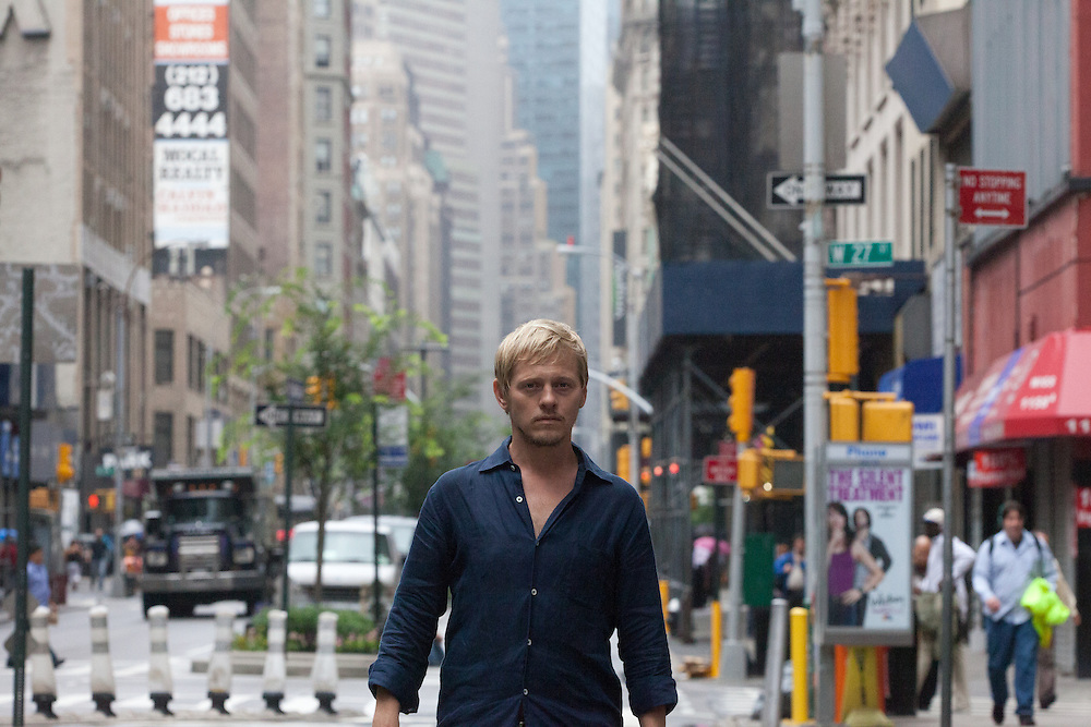Thure Lindhardt. set of Keep the lights on. Summer 2011. NY