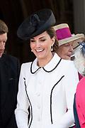 """Koning Willem Alexander wordt door Hare Majesteit Koningin Elizabeth II geïnstalleerd in de 'Most Noble Order of the Garter'. Tijdens een jaarlijkse ceremonie in St. Georgekapel, Windsor Castle, wordt hij geïnstalleerd als 'Supernumerary Knight of the Garter'.<br /> <br /> King Willem Alexander is installed by Her Majesty Queen Elizabeth II in the """"Most Noble Order of the Garter"""". During an annual ceremony in St. George's Chapel, Windsor Castle, he is installed as """"Supernumerary Knight of the Garter"""".<br /> <br /> Op de foto / On the photo: Queen Letizia"""