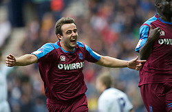PRESTON, ENGLAND - Saturday, September 24, 2011: Tranmere Rovers' Jose Baxter celebrates his equalising goal against Preston North End during the Football League One match at Deepdale. (Pic by Dave Kendall/Propaganda)