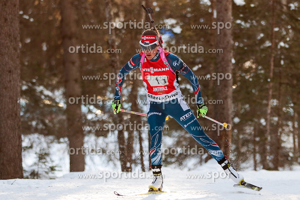 25.01.2015, Suedtirol Arena, Antholz, ITA, IBU Weltcup Biathlon, Antholz, Staffel Damen, im Bild Jitka Landova (CZE) // during the Womens Relay of IBU Biathlon World Cup at the Suedtirol Arena in Antholz, Italy on 2015/01/25. EXPA Pictures © 2015, PhotoCredit: EXPA/ Federico Modica