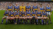All Ireland Senior Hurling Championship - Final, .14.09.1997, 09.14.1997, 14th September 1997, .14091997AISHCF,.Senior Clare v Tipperary .Tipperary 2-16, Wexford 0-15,.Minor Clare v Galway, ..Tipperary Senior Team, Back row from left, Thomas Dunne, Noel Sheehy, Brendan Cummins, Conor Gleeson, Brian O'Meara, Liam Sheehy, Liam McGrath, Front row from left, Michael Cleary, Eugene O'Neill, Colm Bonnar, Michael Ryan, Paul Shelly, John Leahy, Declan Ryan, Conal Bonnar, ..MFP, Lucan Co Dublin,