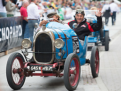 14.07.2012, Groebming, AUT, Ennstal Classic 202, Chopard Grand Prix, im Bild Bernard Guere mit Beifahrer in einem BNC, Bj. 1923 // during Chopard Grand Prix at the Ennstal Classic 2012 in Groebming, Austria on 2012/07/14. EXPA Pictures © 2012, PhotoCredit: EXPA/ J. Groder