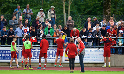 ROTTACH-EGERN, GERMANY - Friday, July 28, 2017: Liverpool players sign autographs for supporter after a training session at FC Rottach-Egern on day three of the preseason training camp in Germany. (Pic by David Rawcliffe/Propaganda)