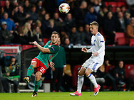 FOOTBALL: Maciej Rybus (Lokomotiv Moskva) clears the ball during the UEFA Europa League Group F match between FC København and FC Lokomotiv Moskva at Parken Stadium, Copenhagen, Denmark on September 14, 2017. Photo: Claus Birch