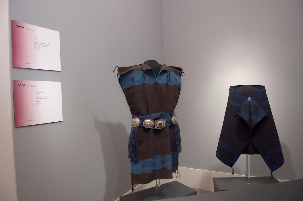 17034Kennedy Museum Documentation of Galleries: Navajo Weavings: Sculpture: 7/11/05