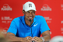 September 22, 2018 - Atlanta, Georgia, United States - Tiger Woods speaks to the media after the third round of the 2018 TOUR Championship. (Credit Image: © Debby Wong/ZUMA Wire)