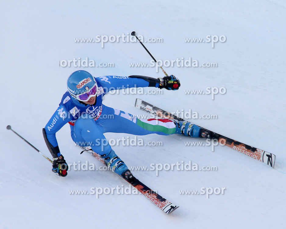 14.02.2013, Planai, Schladming, AUT, FIS Weltmeisterschaften Ski Alpin, Riesenslalom,  Damen, 1. Durchgang, im Bild Irene Curtoni (ITA) // Irene Curtoni of Italy during 1st run of ladies Giant Slalom at the FIS Ski World Championships 2013 at the Planai Course, Schladming, Austria on 2013/02/14. EXPA Pictures © 2013, PhotoCredit: EXPA/ Martin Huber