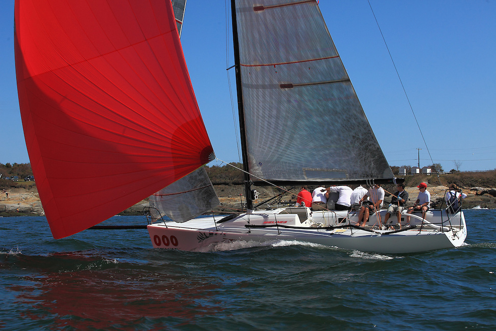 The 2011 Sail for Pride marked the 10th anniversary of the event.  The event began as a way to raise money for those individuals and families effected by the catastrophic day in American history: September 11th.  The largest fleet of boats to date raced around Jamestown island in the Narragansett Bay.