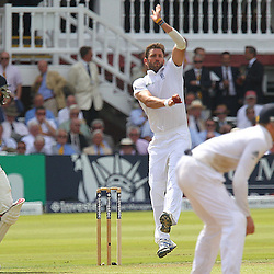 England's Liam Plunkett fires a delivery in during the first day of the Investec 2nd Test match between England and India at Lords, London, 17th July 2014 © Phil Duncan | SportPix.org.uk