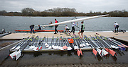 Caversham, United Kingdom. Blade laywd out on the boating pontoon before the 2015 GBRowing Team, December Trials at the Training Base Nr Reading.<br /> <br /> Saturday  19/12/2015<br /> <br /> [Mandatory Credit; Peter SPURRIER/ntersport Images] [Mandatory Credit; Peter SPURRIER/Intersport Images]