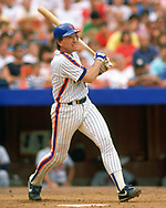 QUEENS, NY - 1988:  Gary Carter of the New York Mets bats during an MLB game at Shea Stadium in Queens, NY during the 1988 season. (Photo by Ron Vesely).  Subject:   Gary Carter