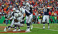 The Dallas Cowboys celebrate after wide receiver Miles Austin #19 scored a 60-yard touchdown in overtime to beat the Kansas City Chiefs 26-20 at Arrowhead Stadium in Kansas City, Missouri.