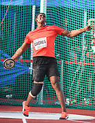 Fedrick Dacres (JAM) places second in the discus at 214-5 (65.36m) during the 57th Ostrava Golden Spike track and field meeting in a IAAF World Challenge event at Mestsky Stadium in Ostrava, Czech Republic, Wednesday, June 13, 2018. (Jiro Mochizuki/Image of Sport)
