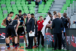 Team Cimberio Varese during basketball match between KK Union Olimpija and  Cimberio Varese (ITA) of 1st Round of Regular season of EuroCup 2013/2014 on October 16, 2013, in SRC Stozice, Ljubljana, Slovenia. (Photo by Urban Urbanc / Sportida)