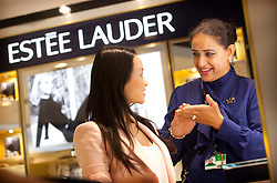 Estee Lauder retail shoot, London Heathrow Terminal 3