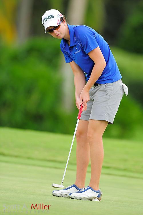 Katie Kempter in action during the final round of the Daytona Beach Invitational  at LPGA International on Sep 29, 2012 in Daytona Beach, Florida...©2012 Scott A. Miller