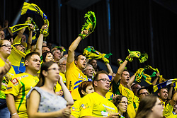 Florjani fans of RK Celje PL during handball match between RK Celje Pivovarna Lasko (SLO) and SG Flensburg Handewitt (GER) in 3rd Round of EHF Men's Champions League 2018/19, on September 30, 2018 in Arena Zlatorog, Celje, Slovenia. Photo by Grega Valancic / Sportida