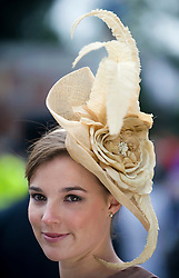 © licensed to London News Pictures.16/06/2011. Ascot, UK.  Clare Barell at Ladies day at Royal Ascot races today (16/06/2011). The 5 day showcase event is one of the highlights of the racing calendar. Horse racing has been held at the famous Berkshire course since 1711 and tradition is a hallmark of the meeting. Top hats and tails remain compulsory in parts of the course. Photo credit should read: Ben Cawthra/LNP