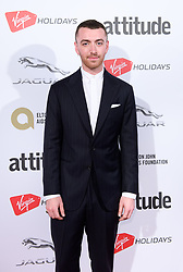 EDITORIAL USE ONLY<br /> Sam Smith attends the Virgin Holidays Attitude Awards at the Roundhouse, London.