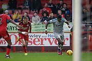 Omar Bogle during the EFL Sky Bet League 2 match between Crawley Town and Grimsby Town FC at the Checkatrade.com Stadium, Crawley, England on 26 November 2016. Photo by Jarrod Moore.