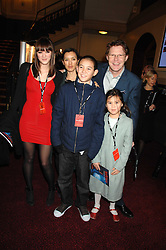 Radio & TV presenter ROBERT ELMS and his family at the gala night of Varekai by Cirque du Soleil at The Royal Albert Hall, London on 8th January 2008.<br />