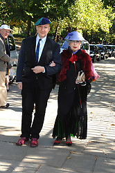 STEPHEN JONES and ANNA PIAGGI  at the memorial service of Isabella Blow held at the Guards Chapel, London W1 on 18th September 2007.<br /><br />NON EXCLUSIVE - WORLD RIGHTS
