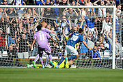 Jon Toral celebrates scoring the second goal during the Sky Bet Championship match between Birmingham City and Reading at St Andrews, Birmingham, England on 8 August 2015. Photo by Alan Franklin.