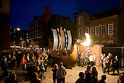 Free Use of Picture<br /> 6 September 2013: Over one thouand torchbearers led by a Viking ship make their way through Hull  at the opening of Hull's Freedom Festival which runs over the weekend and is expected to attract over 100,000 people.<br /> <br /> Extra info: UK City of Culture 2017 candidate city Hull tonight hosted a spectacular torchlight procession featuring almost 1000 local residents as part of the opening ceremony of Freedom Festival, the city's major annual cultural showcase.<br /> The main procession of flaming torchbearers began at the city's statue of Hull MP William Wilberforce, through the cobbled streets of the city's old town and culminated in a stunning recital of Martin Luther King's 'I Have a  Dream' speech by renowned author and poet Lemn Sissay MBE, 50 years on from when the pivotal address was made.<br /> Freedom Festival grew out of bicentenary commemorations in Hull in 2007 of William Wilberforce's Act of Parliament, which abolished the slave trade in the British Empire.<br /> This is the sixth annual Freedom Festival, which celebrates, through artistic and cultural expression, Hull's independent spirit and historic contribution to the cause of freedom as the birthplace of MP William Wilberforce. Acts appearing during the weekend include The 1975, French theatre pioneers Transe Express in a UK exclusive, Tanzanian acrobatic troupe The Black Eagles and much more.<br /> Free use of picture<br /> Picture: Sean Spencer/Hull News & Pictures Ltd<br /> 01482 772651/07976 433960<br /> www.hullnews.co.uk   sean@hullnews.co.uk