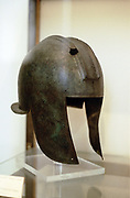 Macedonian helmet. 3rd century BC. Archaeological Museum of Thessaloniki