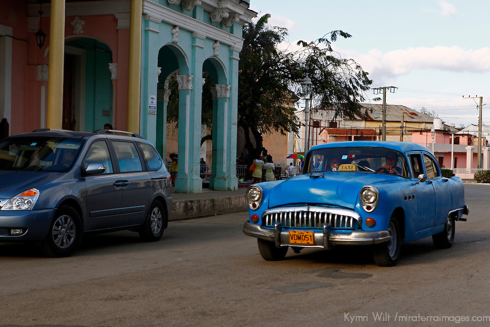 Central America, Cuba, Remedios. Vintage car of Remedios.
