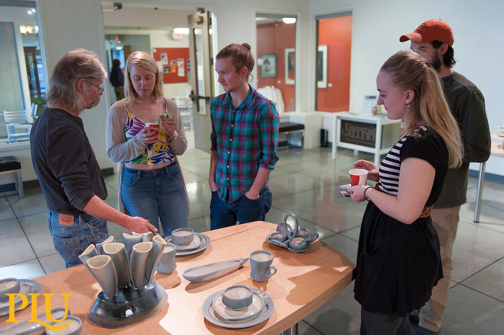 Deborah Schwartzkopf Pottery Exhibition at PLU on 3/18/2015 (Photo/John Struzenberg '16)