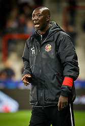 September 20, 2017 - Mouscron, BELGIUM - Tubize's head coach Sadio Demba gestures during a Croky Cup 1/16 final game between Excel Mouscron and AFC Tubize (1B), in Mouscron, Wednesday 20 September 2017. BELGA PHOTO VIRGINIE LEFOUR (Credit Image: © Virginie Lefour/Belga via ZUMA Press)
