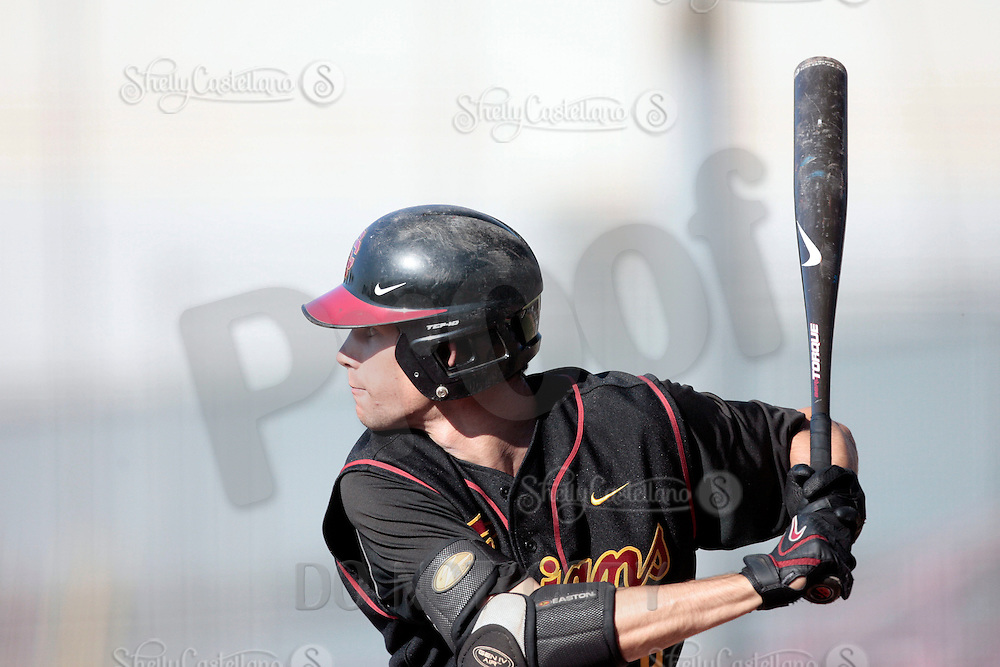 28 March 2009: Robert Stock #2 of the USC Trojans Baseball team during a 10-1 loss to Arizona State Sun Devils at Dedeaux Field in Los Angeles.