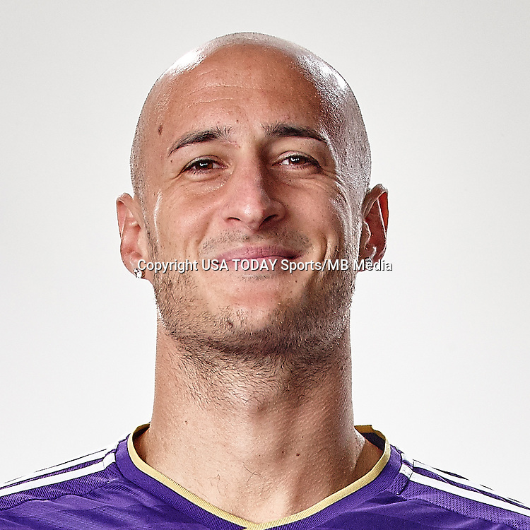 Feb 25, 2016; USA; Orlando City SC player Aurelien Collin poses for a photo. Mandatory Credit: USA TODAY Sports