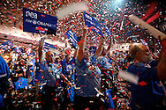 Delegates cheer during the Senator Barack Obama rally at the 146th annual NEA annual meeting at the Walter E. Washington Convention Center July 5,2008. (Scott Iskowitz/ RA TODAY) 2008