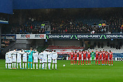 Minutes silence ahead of kick off during the EFL Sky Bet Championship match between Queens Park Rangers and Middlesbrough at the Kiyan Prince Foundation Stadium, London, England on 9 November 2019.