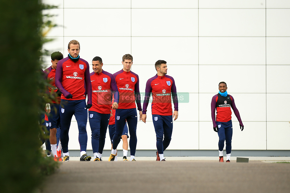 4 October 2017 -  2018 FIFA World Cup Qualifying (Group F) - England Training - Harry Kane leads the players to the training pitch - Photo: Marc Atkins/Offside